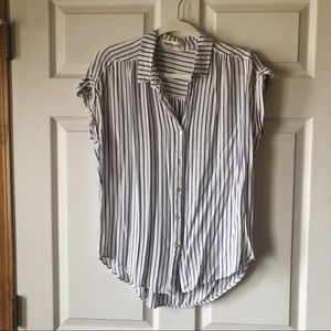 Impressions Tops - Pinstripe Button Down